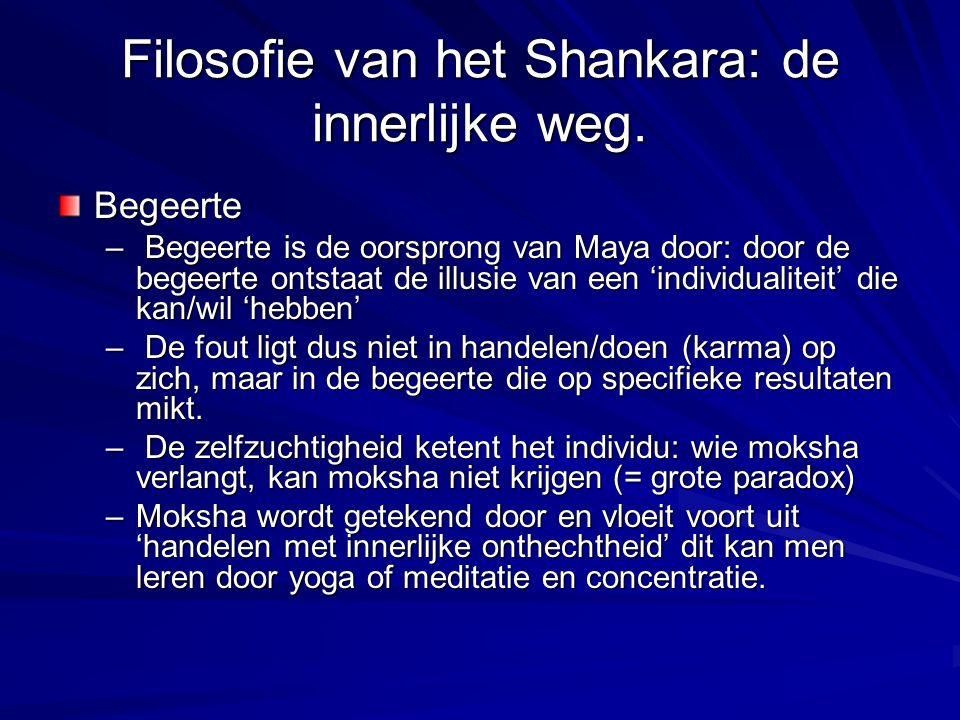 Filosofie van het Shankara: de innerlijke weg.