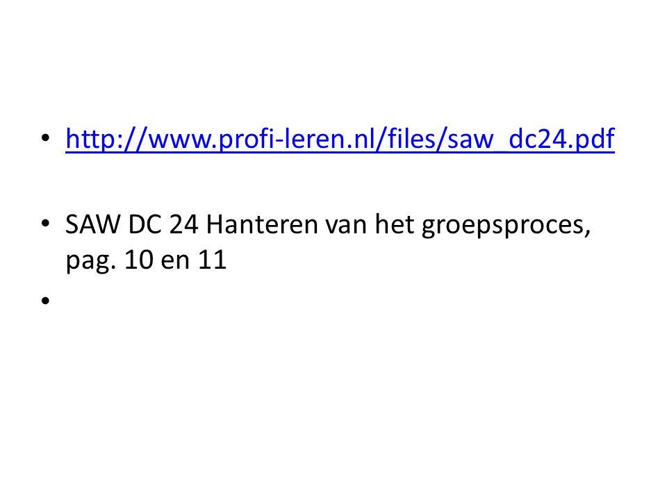 http://www.profi-leren.nl/files/saw_dc24.pdf SAW DC 24 Hanteren van het groepsproces, pag. 10 en 11.