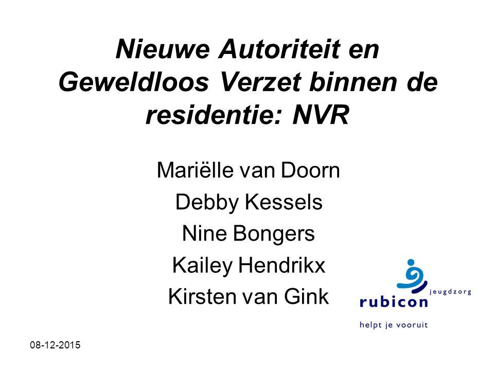 Nieuwe Autoriteit en Geweldloos Verzet binnen de residentie: NVR