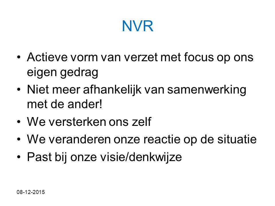 NVR Actieve vorm van verzet met focus op ons eigen gedrag