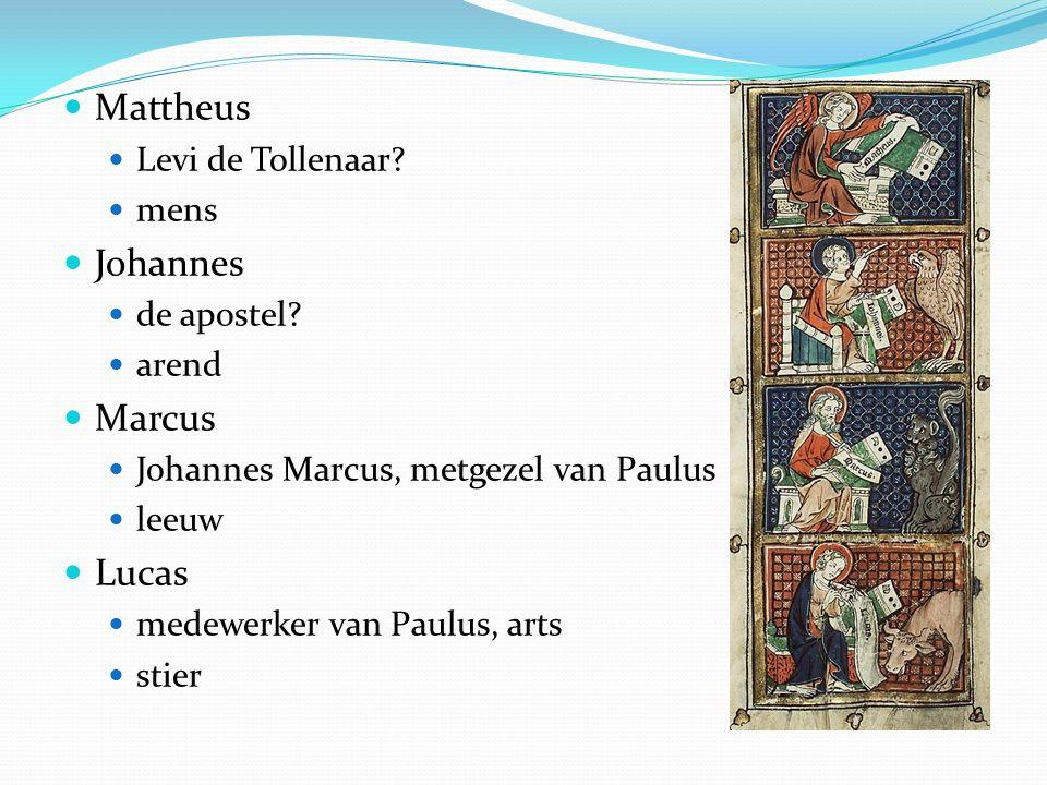 Mattheus Johannes Marcus Lucas Levi de Tollenaar mens de apostel