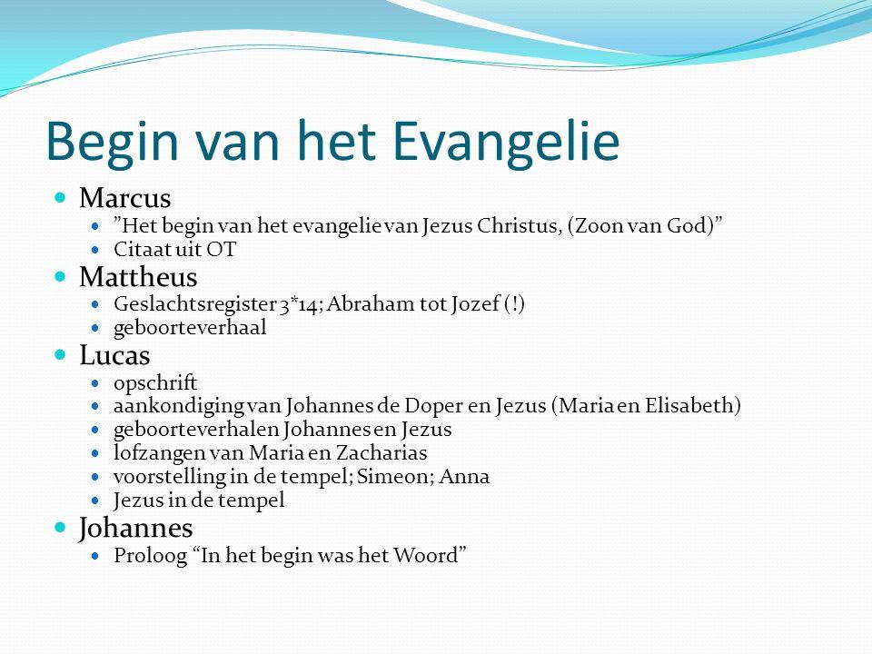 Begin van het Evangelie