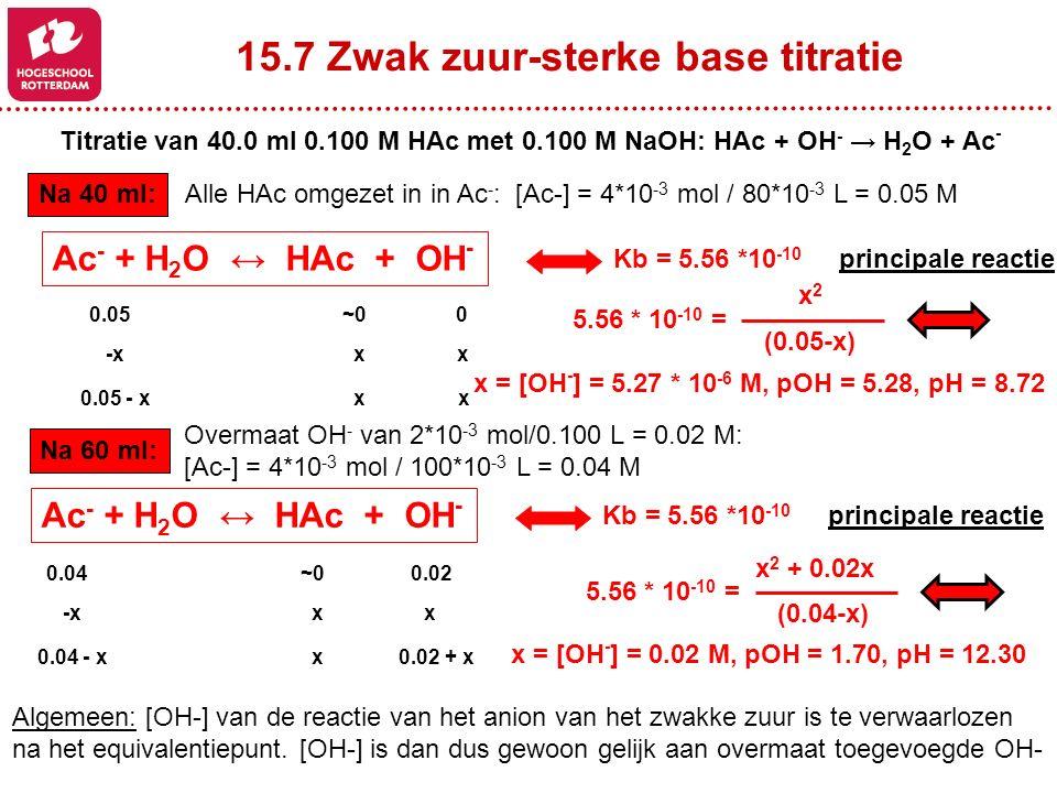 15.7 Zwak zuur-sterke base titratie