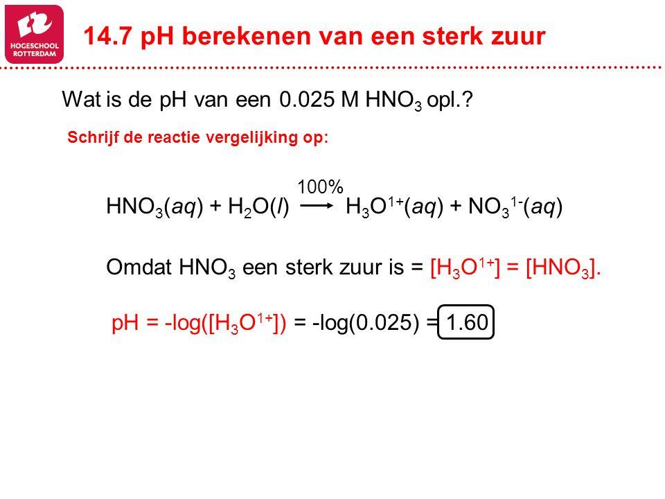 14.7 pH berekenen van een sterk zuur
