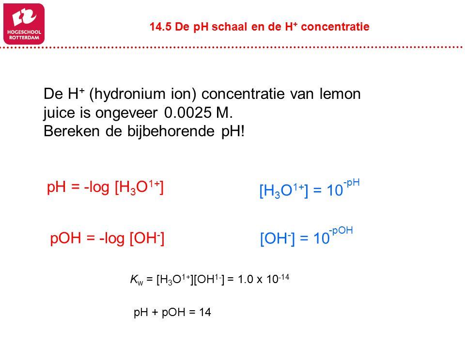 Bereken de bijbehorende pH!