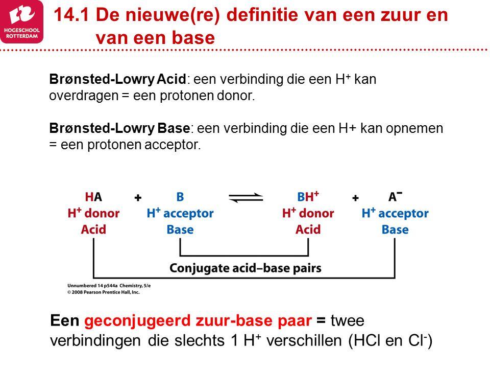 14.1 De nieuwe(re) definitie van een zuur en van een base