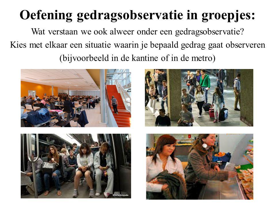 Oefening gedragsobservatie in groepjes: