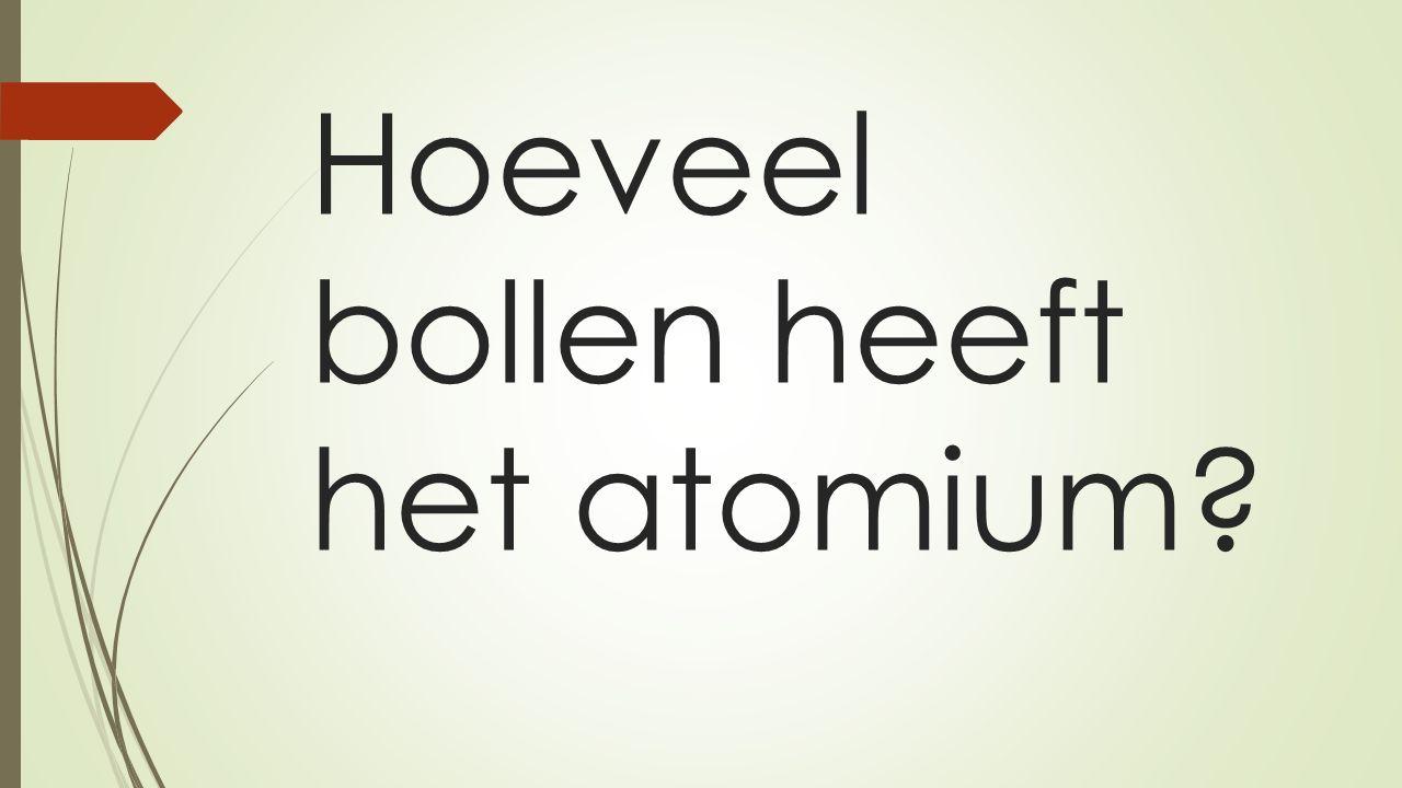 Hoeveel bollen heeft het atomium
