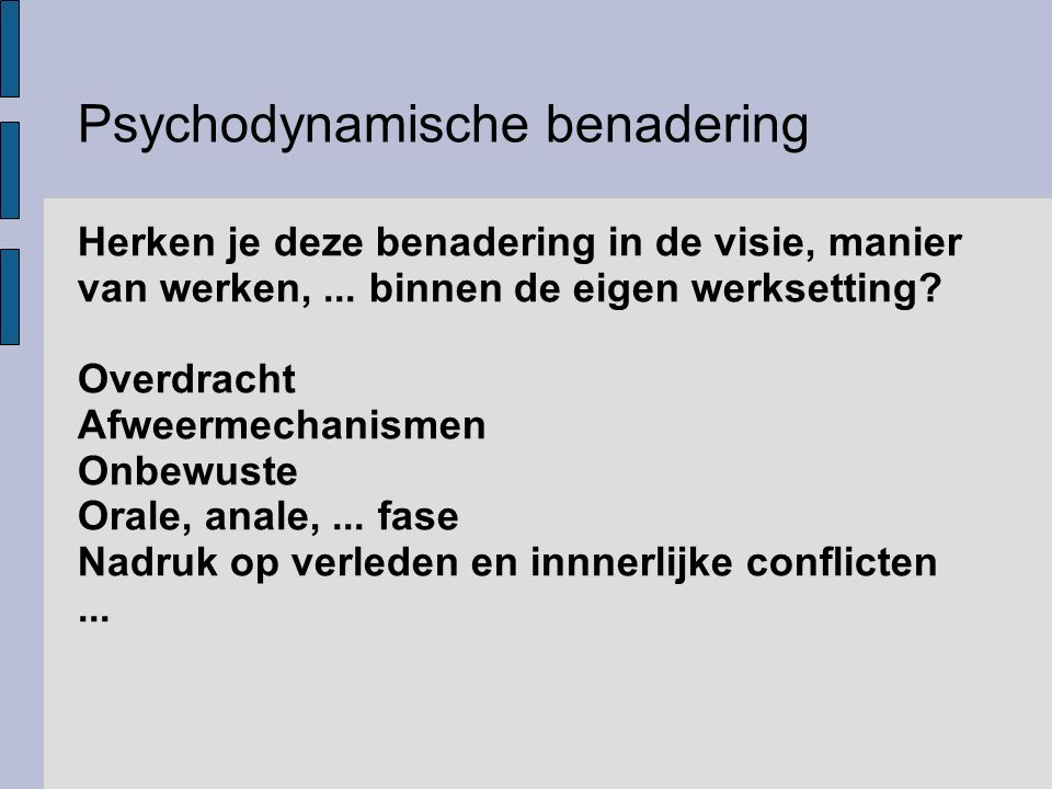Psychodynamische benadering