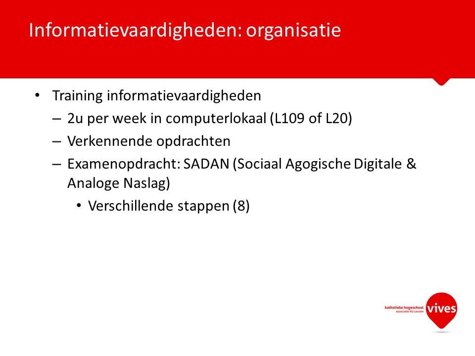 Informatievaardigheden: organisatie