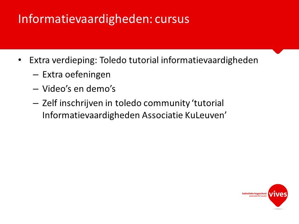 Informatievaardigheden: cursus