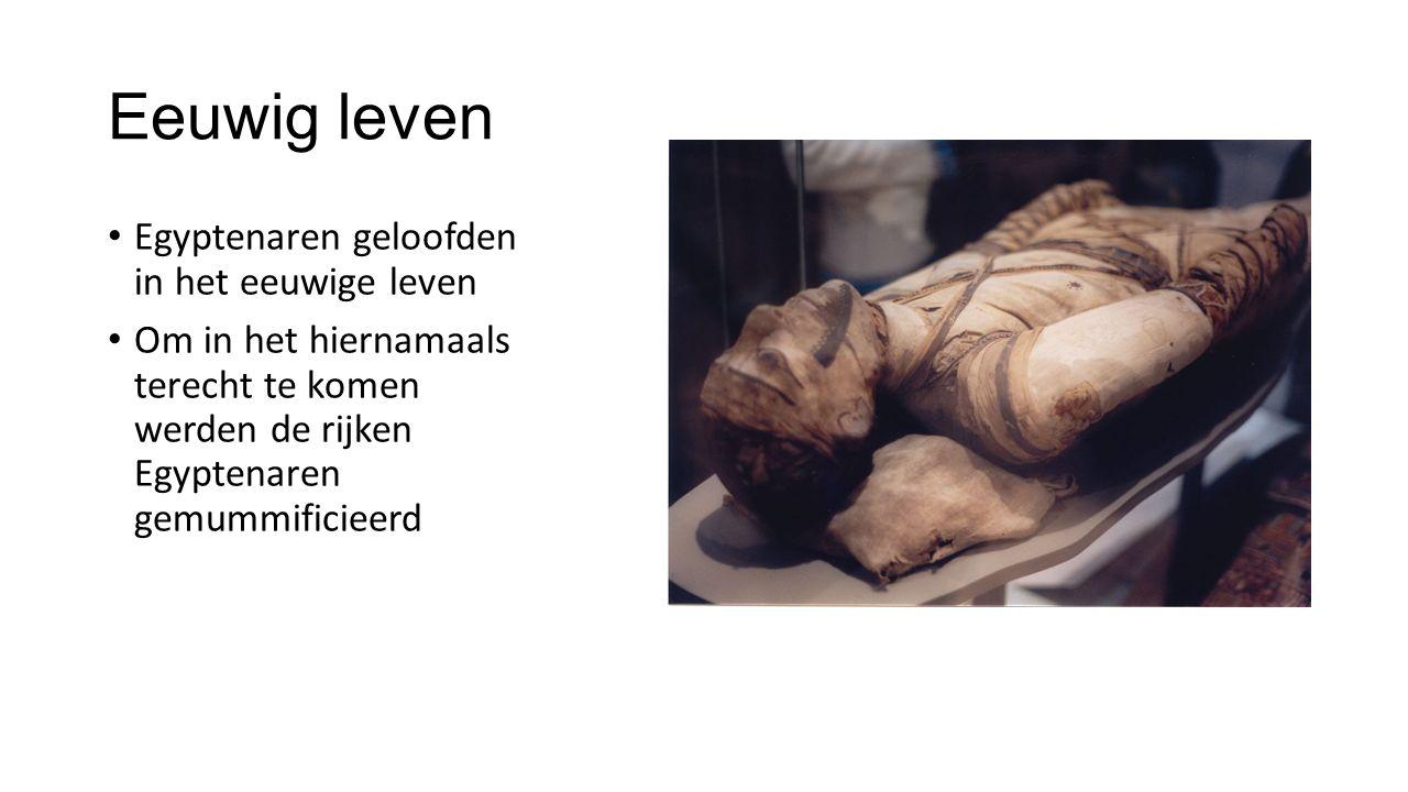 Eeuwig leven Egyptenaren geloofden in het eeuwige leven