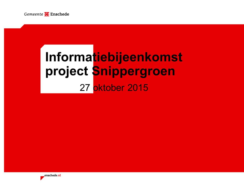 Informatiebijeenkomst project Snippergroen