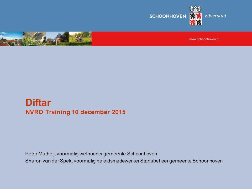 Diftar NVRD Training 10 december 2015