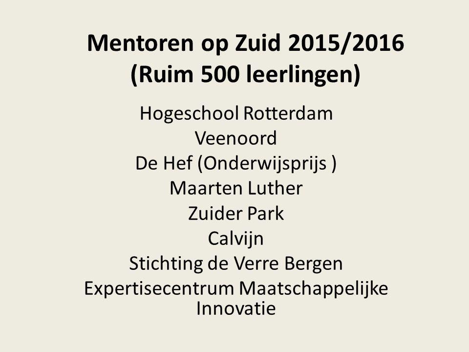 Mentoren op Zuid 2015/2016 (Ruim 500 leerlingen)