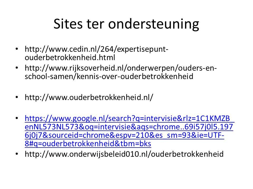 Sites ter ondersteuning