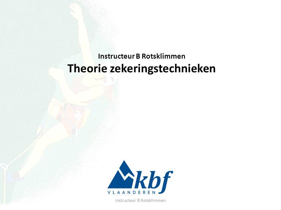 Instructeur B Rotsklimmen Theorie zekeringstechnieken