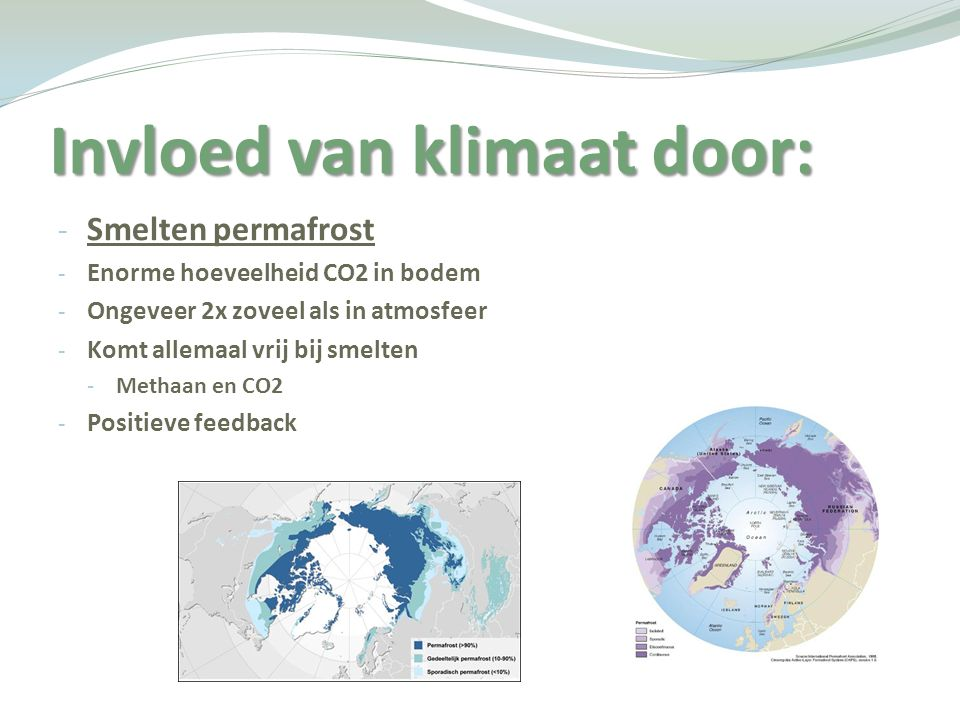 Invloed van klimaat door: