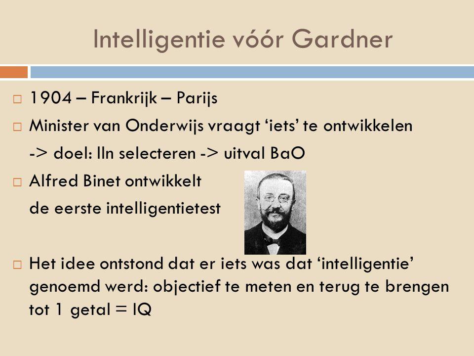Intelligentie vóór Gardner