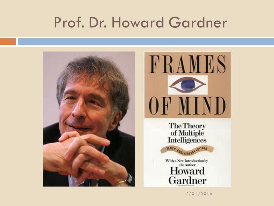 Prof. Dr. Howard Gardner 26/04/2017