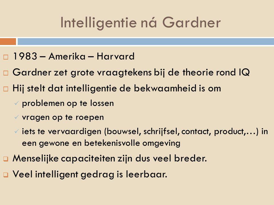 Intelligentie ná Gardner
