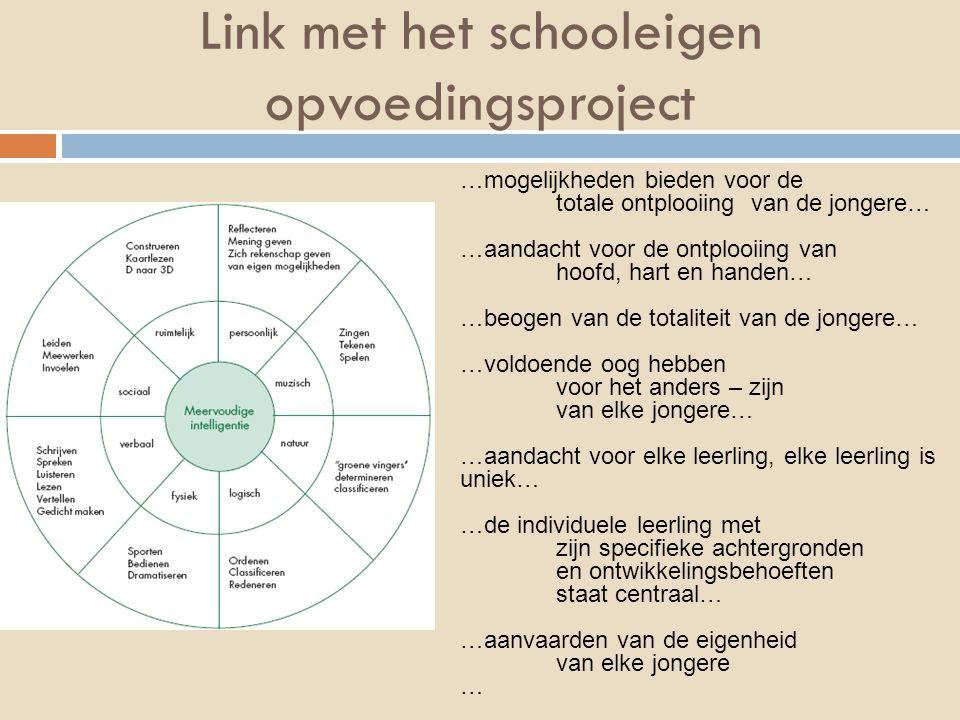 Link met het schooleigen opvoedingsproject