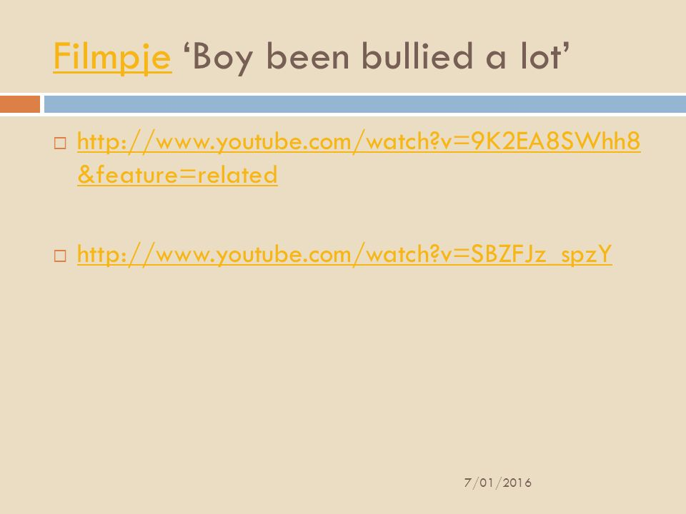 Filmpje 'Boy been bullied a lot'