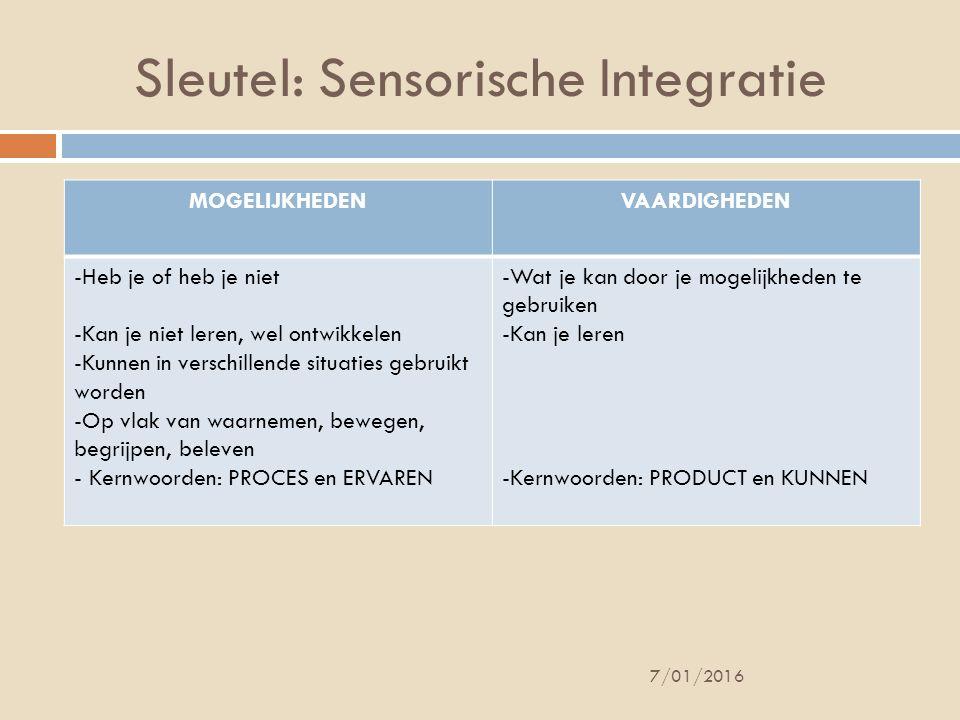 Sleutel: Sensorische Integratie