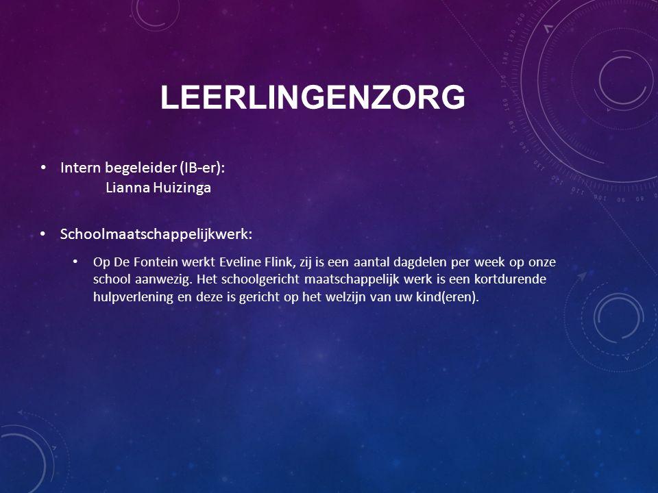 Leerlingenzorg Intern begeleider (IB-er): Lianna Huizinga