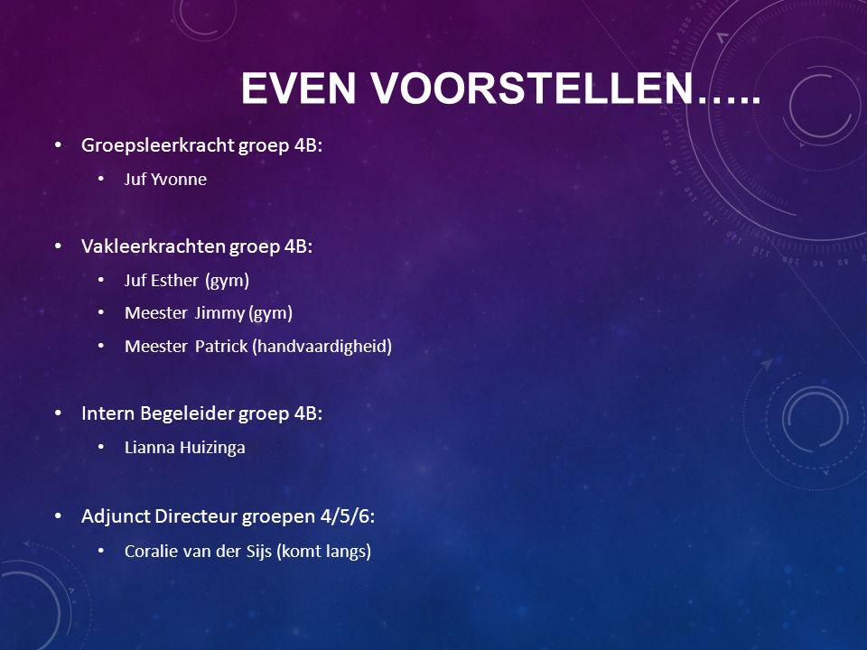 Even voorstellen….. Groepsleerkracht groep 4B: