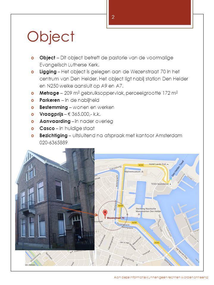 Object Object – Dit object betreft de pastorie van de voormalige Evangelisch Lutherse Kerk.