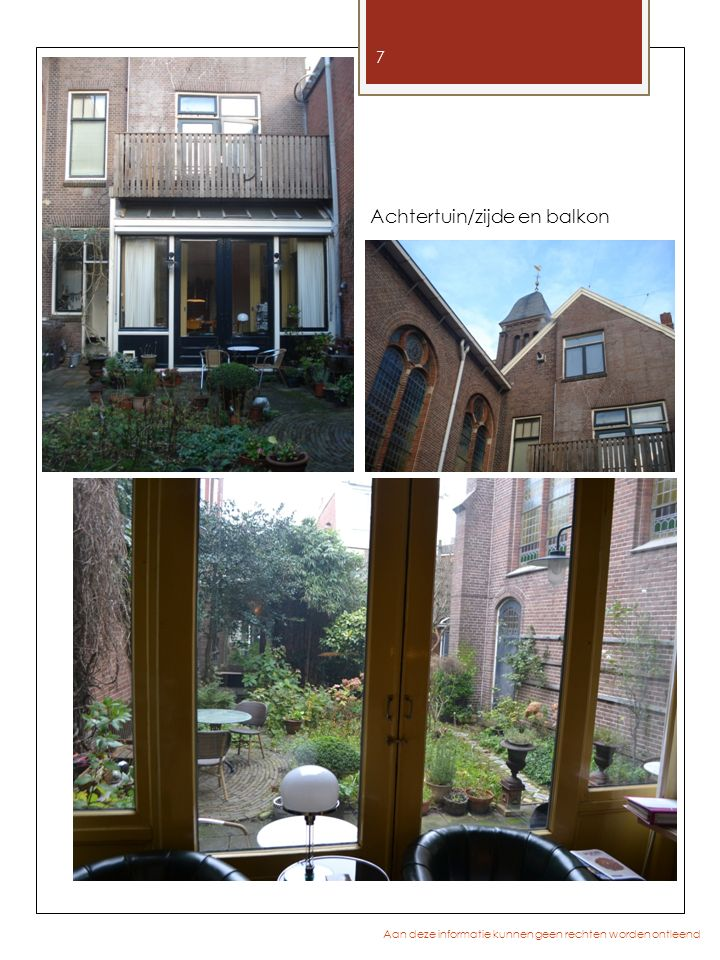 Achtertuin/zijde en balkon