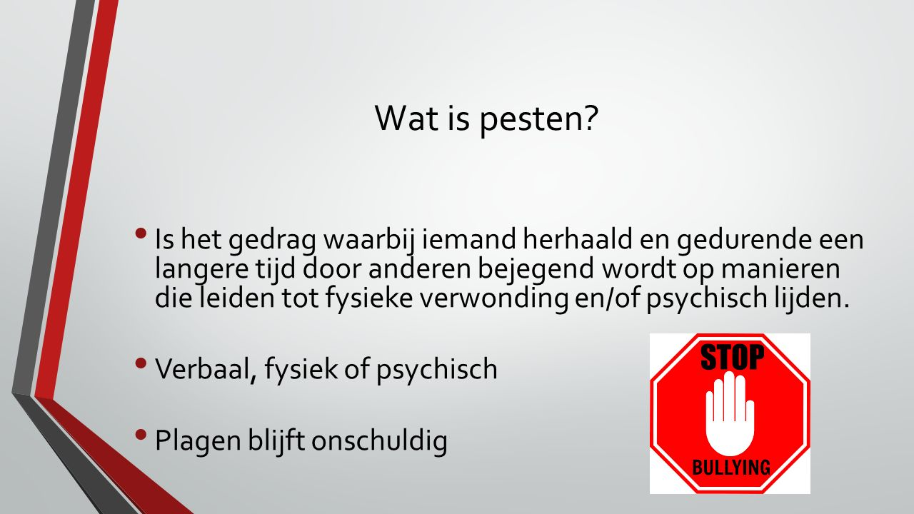 Wat is pesten
