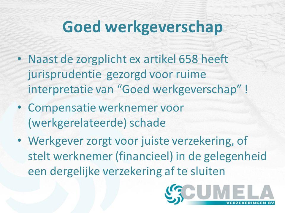 Goed werkgeverschap Naast de zorgplicht ex artikel 658 heeft jurisprudentie gezorgd voor ruime interpretatie van Goed werkgeverschap !