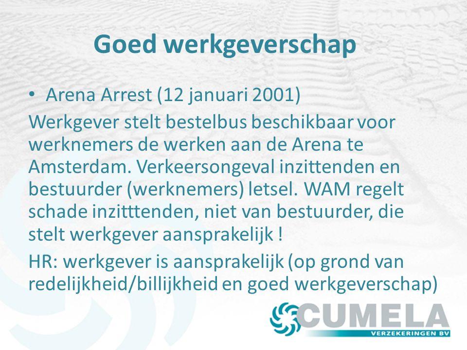 Goed werkgeverschap Arena Arrest (12 januari 2001)