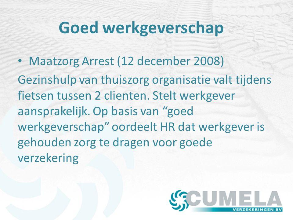 Goed werkgeverschap Maatzorg Arrest (12 december 2008)