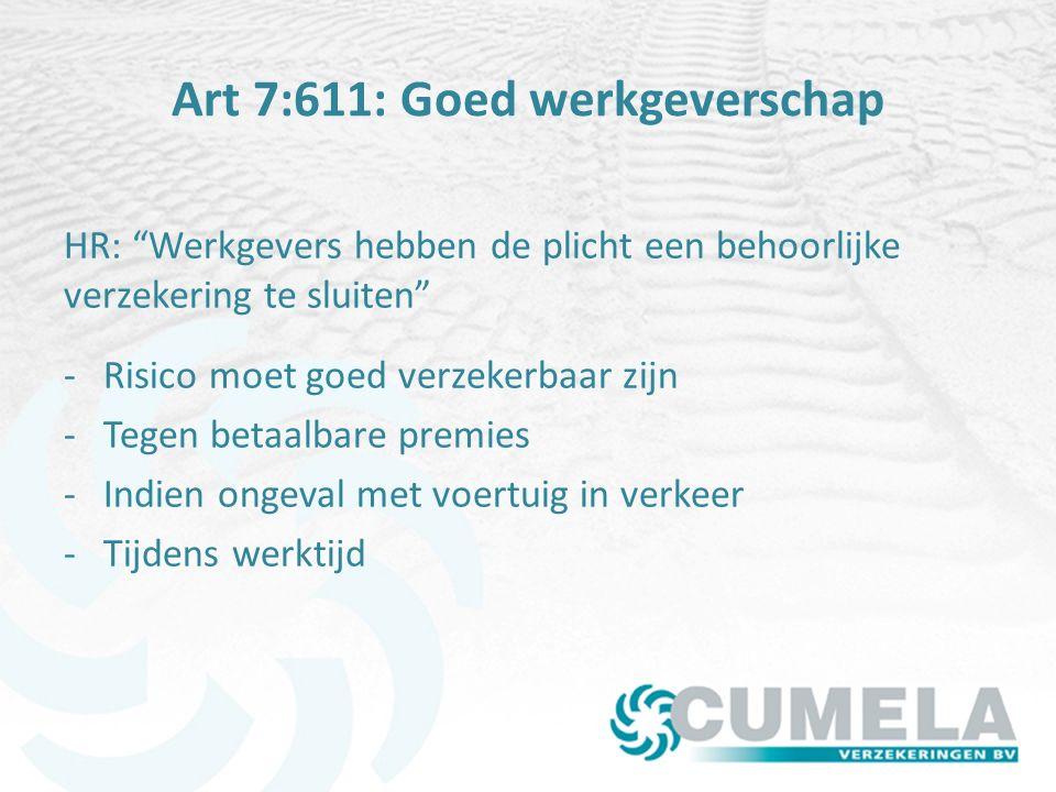 Art 7:611: Goed werkgeverschap