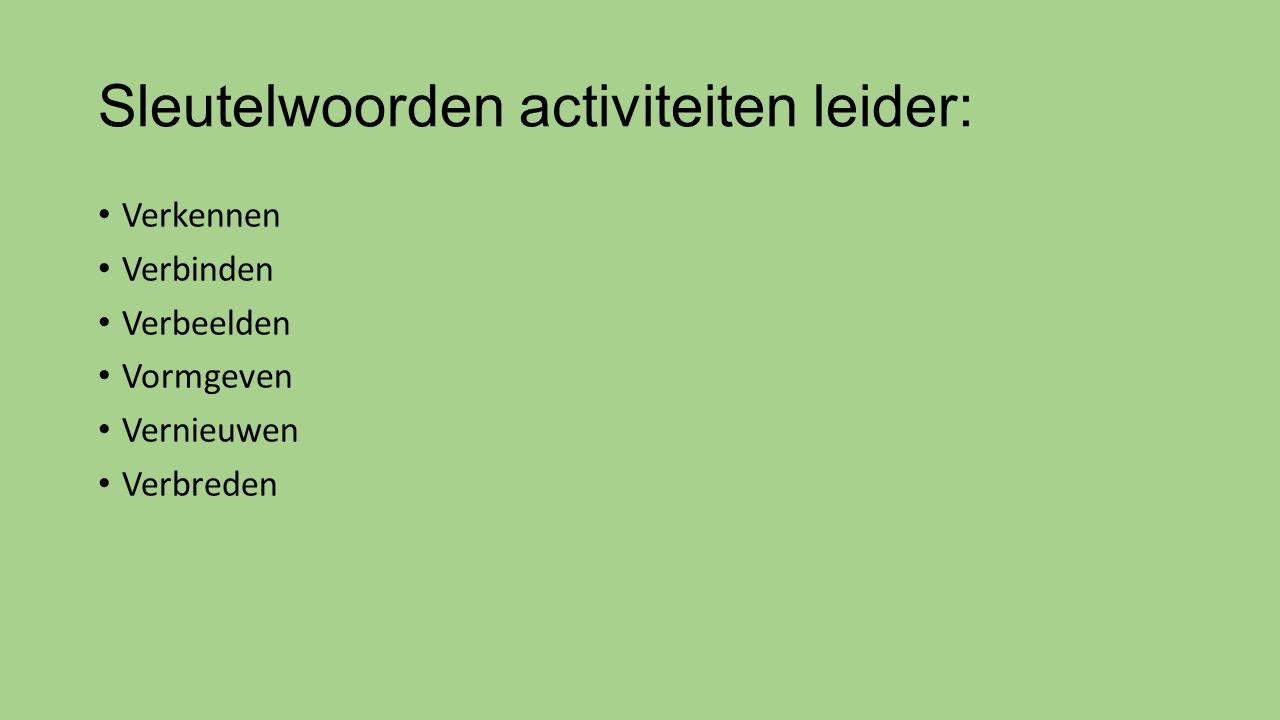 Sleutelwoorden activiteiten leider:
