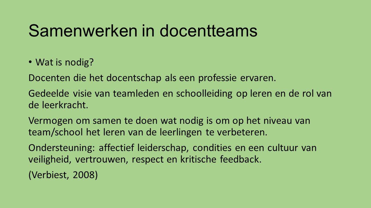Samenwerken in docentteams