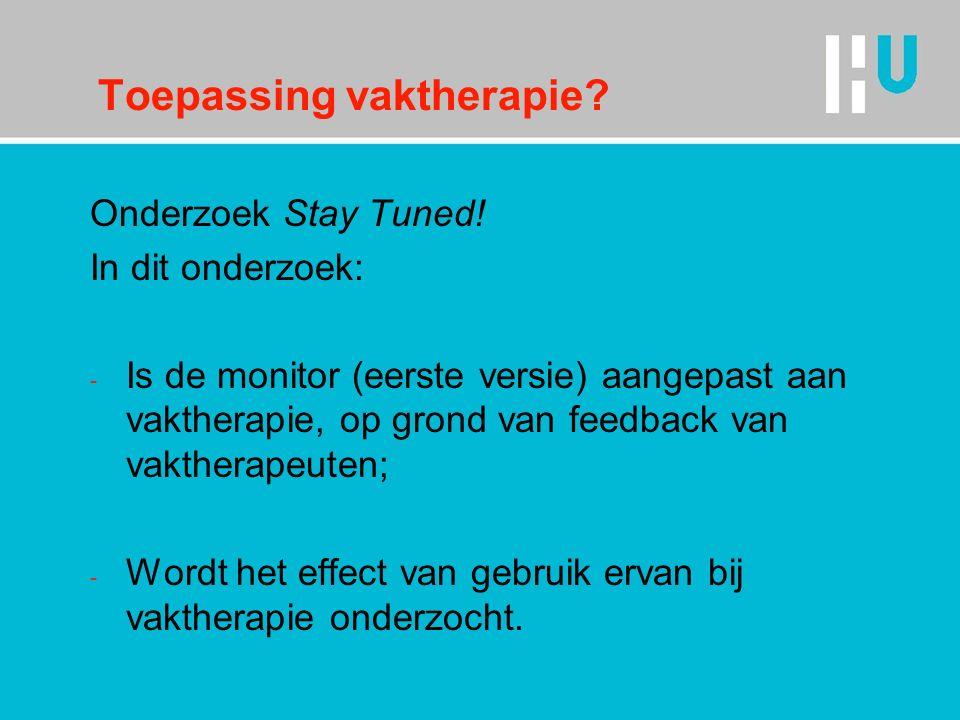 Toepassing vaktherapie