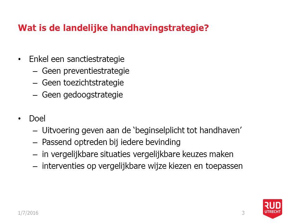 Wat is de landelijke handhavingstrategie