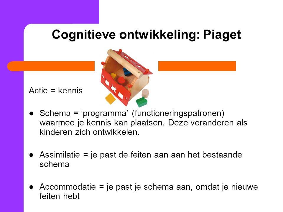 Cognitieve ontwikkeling: Piaget