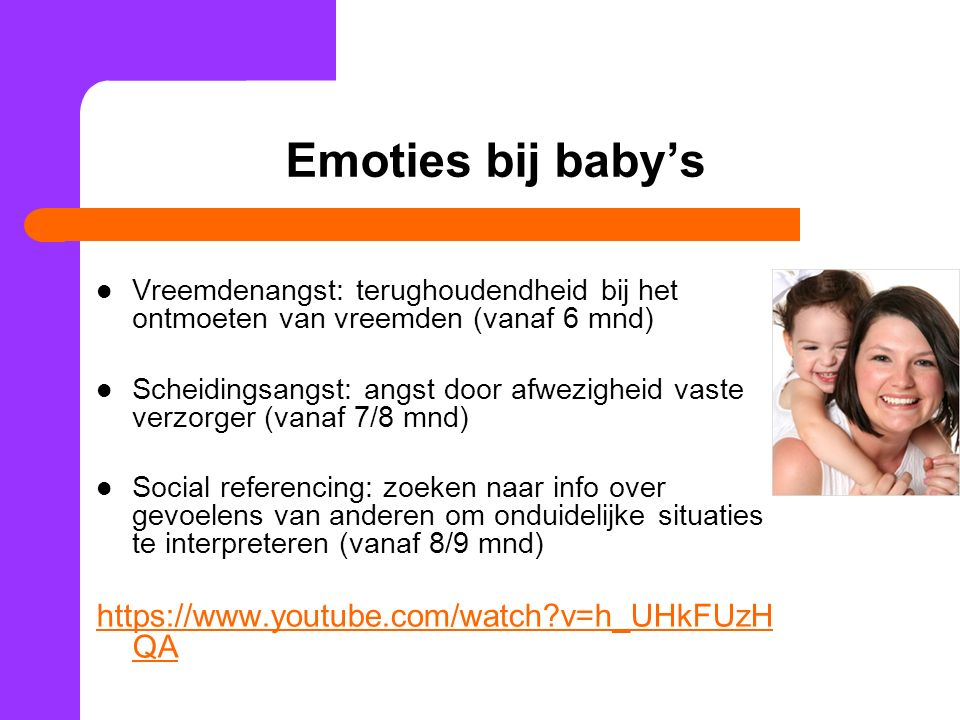 Emoties bij baby's https://www.youtube.com/watch v=h_UHkFUzHQA