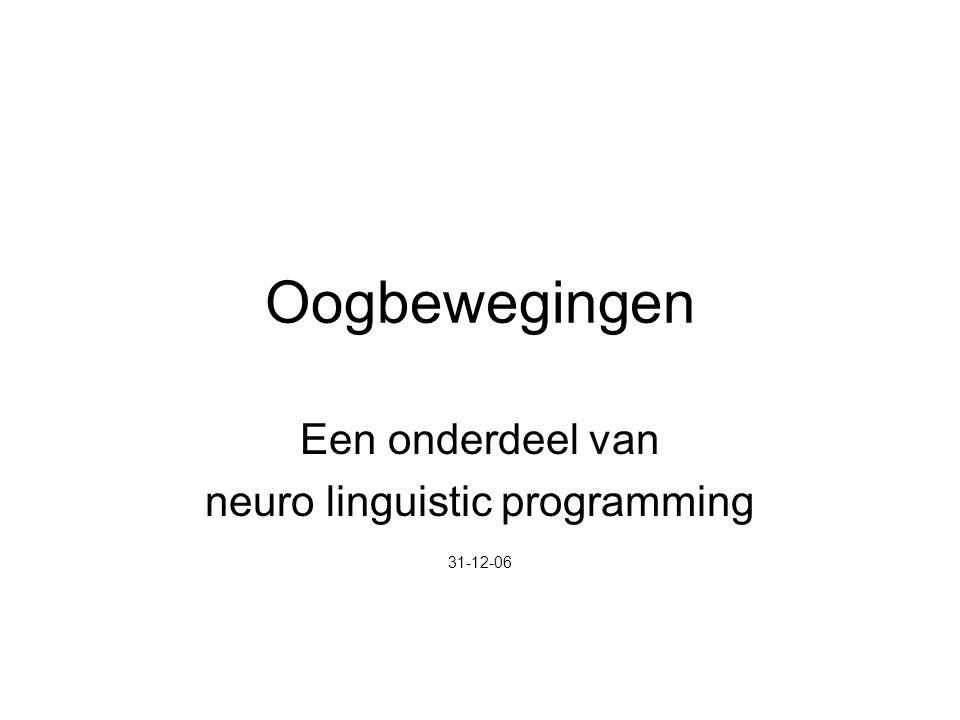 Een onderdeel van neuro linguistic programming 31-12-06