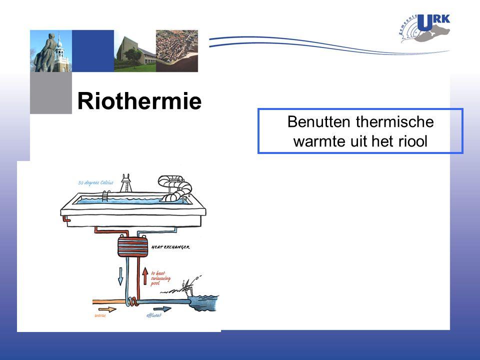 Benutten thermische warmte uit het riool