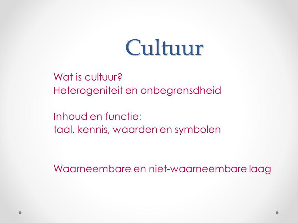 Cultuur Wat is cultuur.