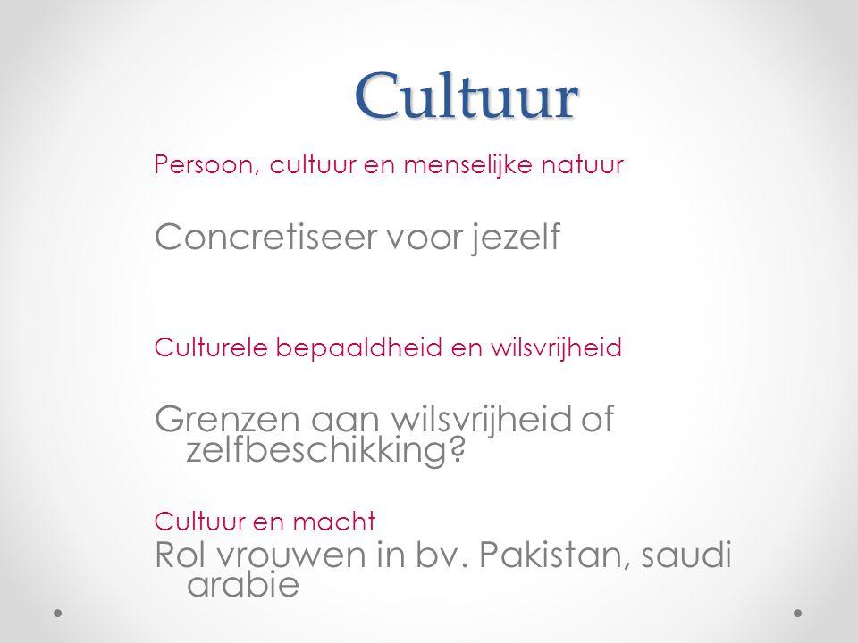 Cultuur Concretiseer voor jezelf