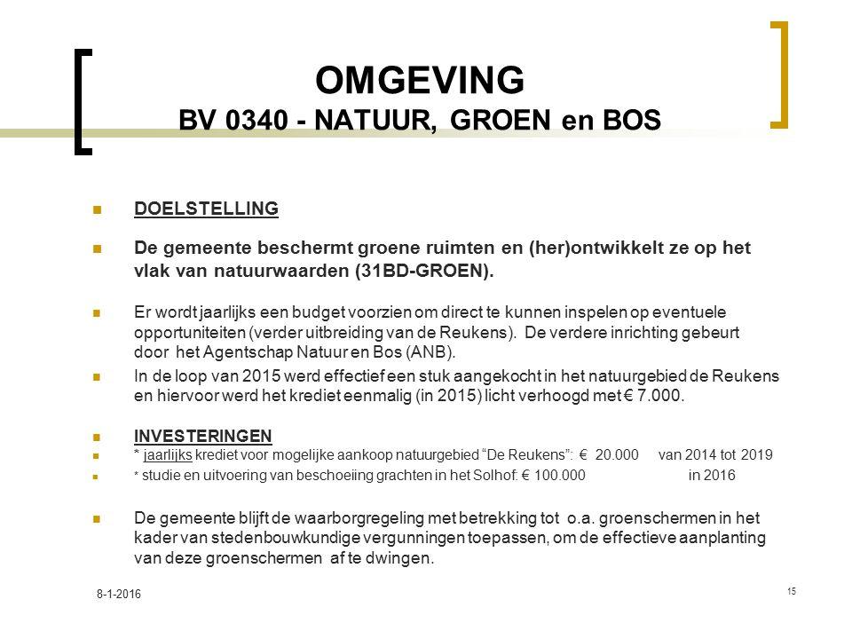 OMGEVING BV 0340 - NATUUR, GROEN en BOS