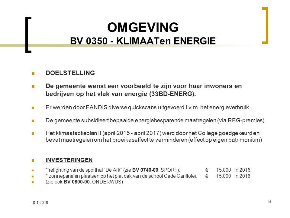OMGEVING BV 0350 - KLIMAATen ENERGIE
