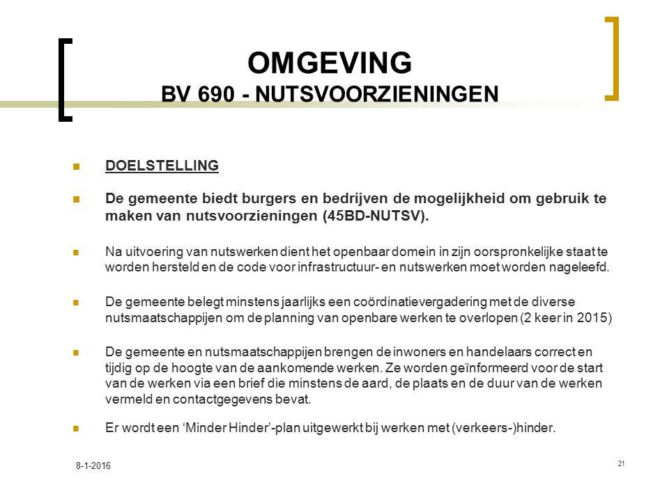 OMGEVING BV 690 - NUTSVOORZIENINGEN
